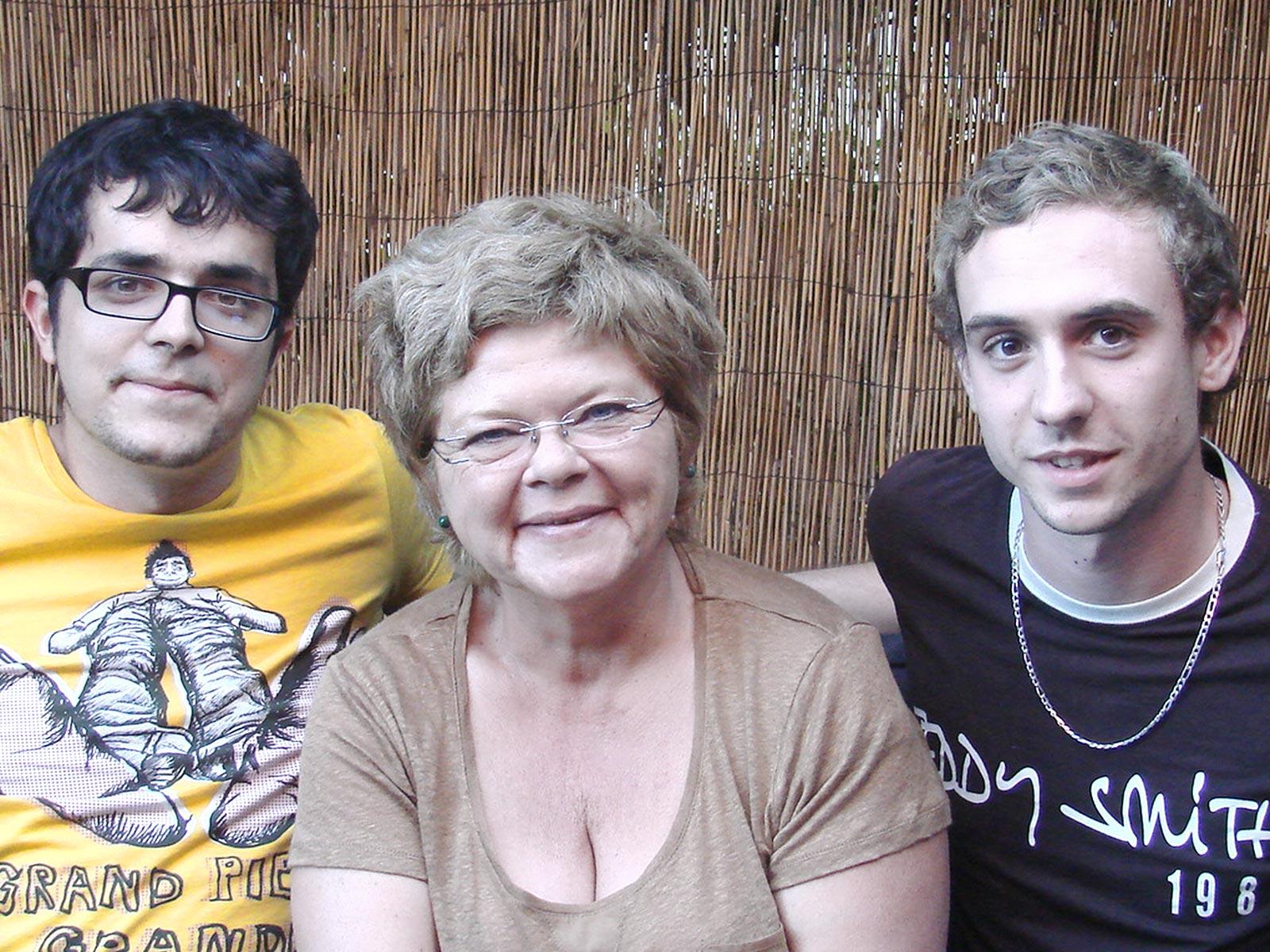 Ghislaine, Luc & Théo en 2012